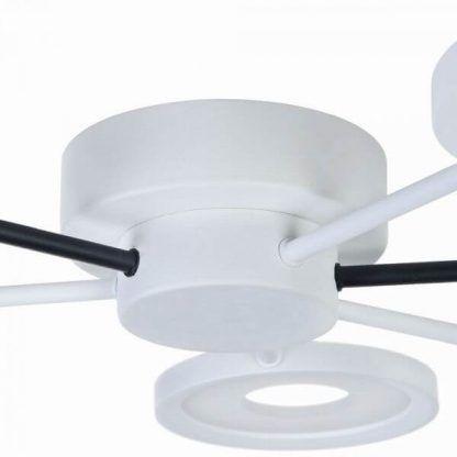 futurystyczna lampa sufitowa biało-czarna