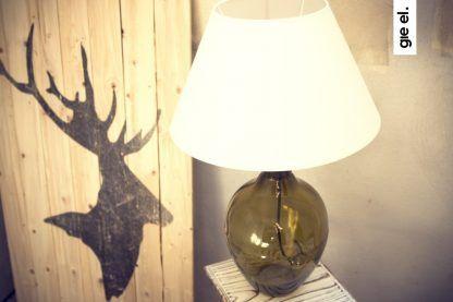gdzie postawić lampę stołową ciemny brąz i abażur