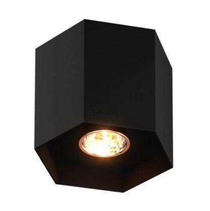 Geometryczna czarna lampa sufitowa