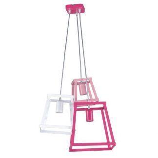 geometryczna lampa wisząca różowa dziewczęca
