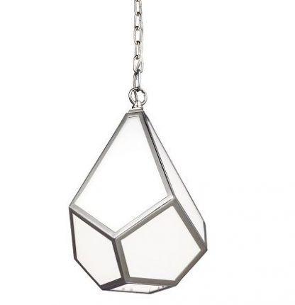 geometryczna lampa wisząca szklana - wisząca bryła
