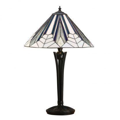 geometryczna witrażowa lampa stołowa do gabinetu