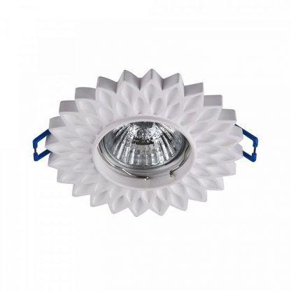 gipsowe oczko led - kwiatek lampa