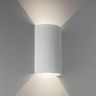 gipsowy kinkiet dekoracyjny biały podłużny