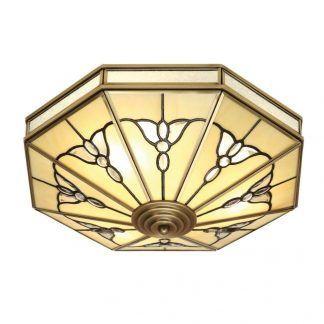 gladstone plafon ze szkła witrażowego duży
