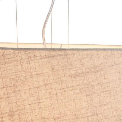 lampa wisząca z materiałowym kloszem