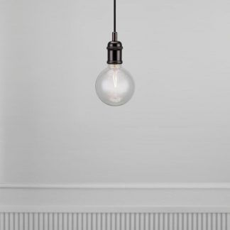 czarne zawieszenie do lampy