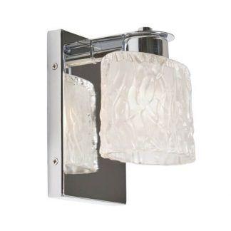 srebrny kinkiet ze szklanym kloszem do łazienki