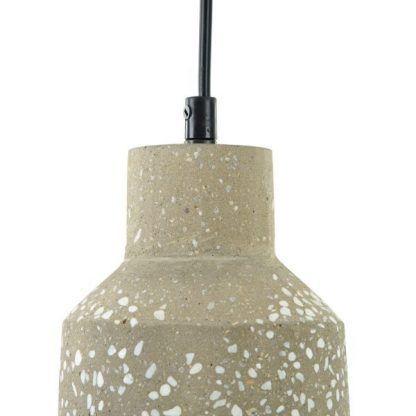 betonowa lampa wisząca industrialna