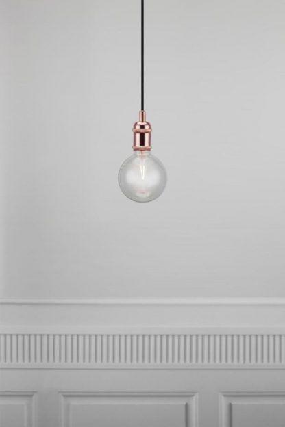 miedziane zawieszenie do lampy