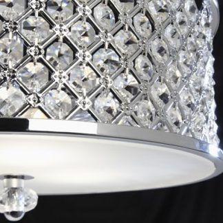 hudson plafon glamour chromi małe kryształki