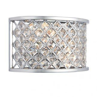 hudson srebrny kinkiet z kryształkami