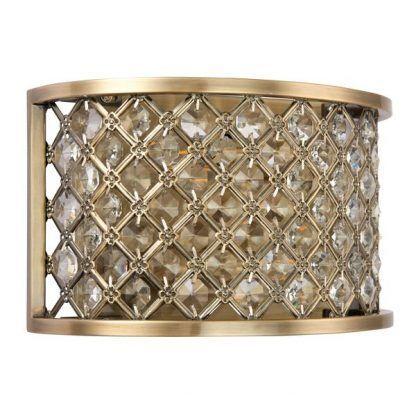 hudson złoty kinkiet z małymi kryształkami
