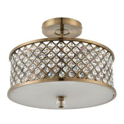hudson złoty plafon z kryształkami