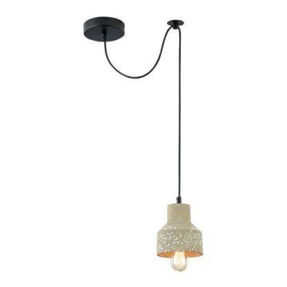 industrialna betonowa lampa wisząca szara