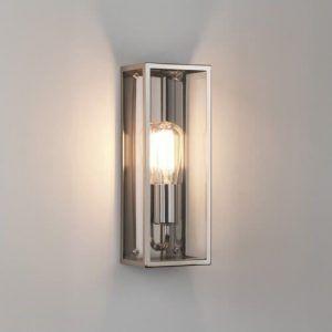 industrialna lampa ścienna z żarówką edisona - nowoczesna i srebrna
