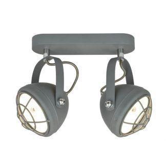 industrialna lampa sufitowa reflektory szara