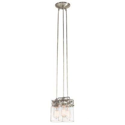 industrialna lampa wisząca srebrna szklane słoiki
