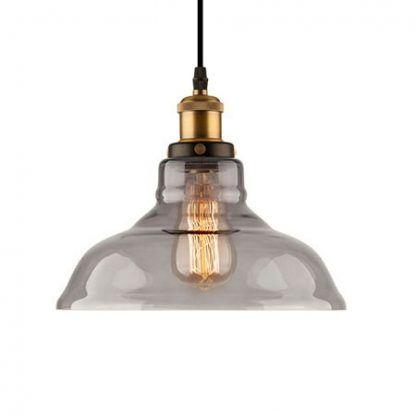 industrialna lampa wisząca szklany klosz do kuchni