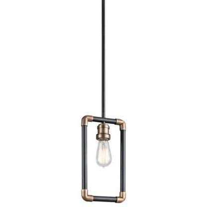 industrialna lampa wisząca z rurek