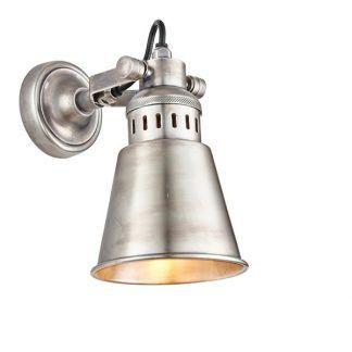 industrialny kinkiet w stylu przemysłowym srebrny