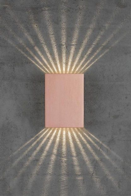 jak pada światło z kinkietu na ścianę
