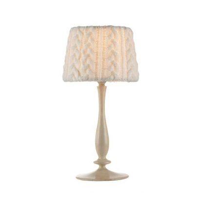 jasna lampa stołowa do rustykalnych wnętrz