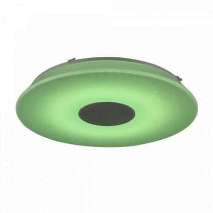 jasno zielona lampa sufitowa - plafon nowoczesny i głośnik