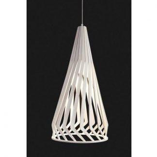 jasnobrązowa drewniana lampa wisząca scandi