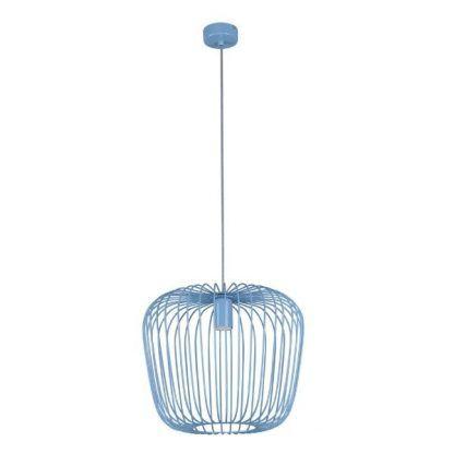 jasnoniebieska lampa wisząca dziecięca ażurowa
