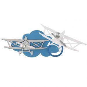 kinkiet chłopięcy szare samoloty na chmurce