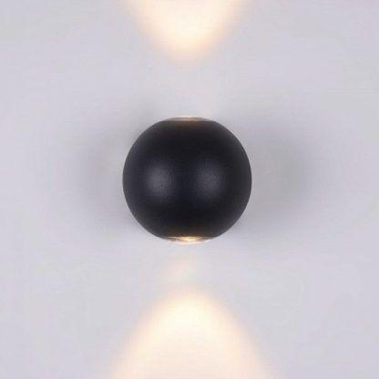 kinkiet czarna kula - do białej ściany