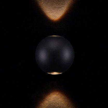 kinkiet czarny w kształcie kuli - nowoczesny