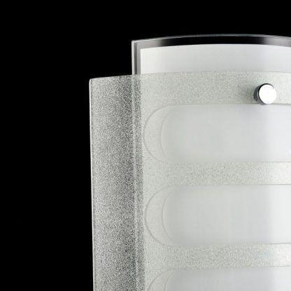 kinkiet do czarnej ściany - szklany biały