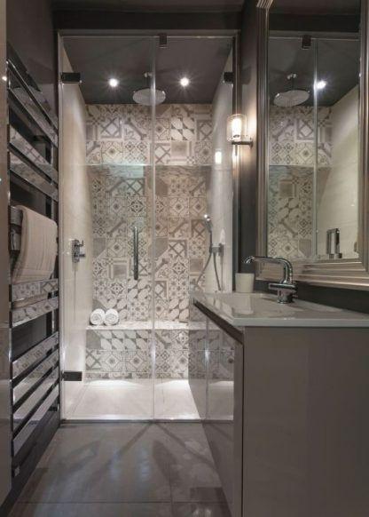 kinkiet do kabiny prysznicowej - szklany nowoczesny