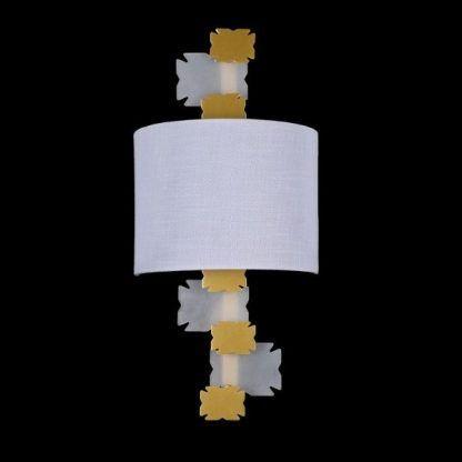 kinkiet do pokoju dziecięcego - biało żółty