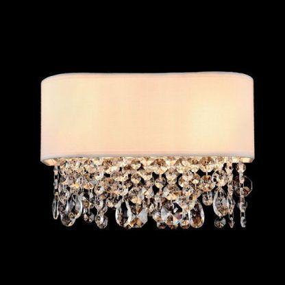 kinkiet glamour z kryształami wiszacymi