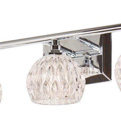 kinkiet łazienkowy nad szerokie lustro srebrny
