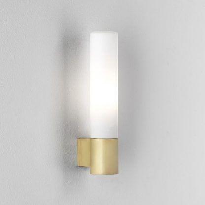 kinkiet łazienkowy złoto biały - również na korytarz