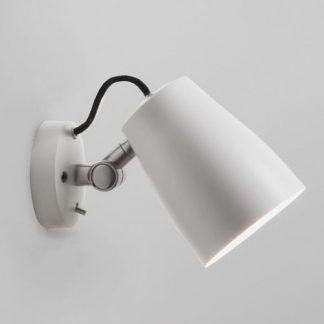 kinkiet reflektor nowoczesny biały na ruchomym ramieniu