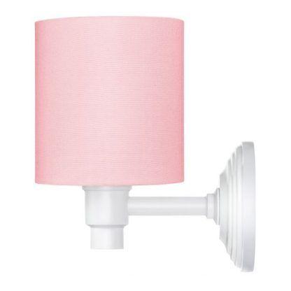 kinkiet różowy do pokoju dziewczynki - biała podstawa
