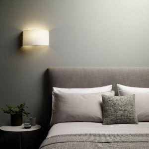 kinkiet ścienny do sypialni nad łóżko - aranżacja