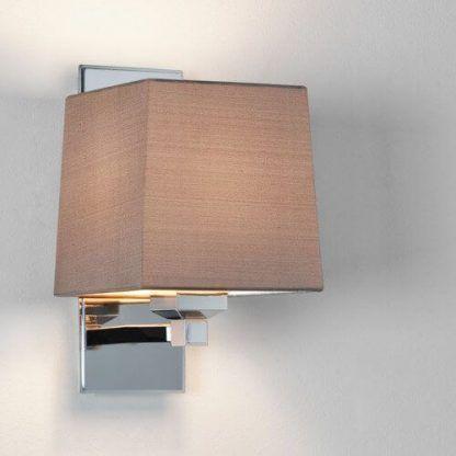 kinkiet srebrny chromowany - nowoczesny kwadratowy design