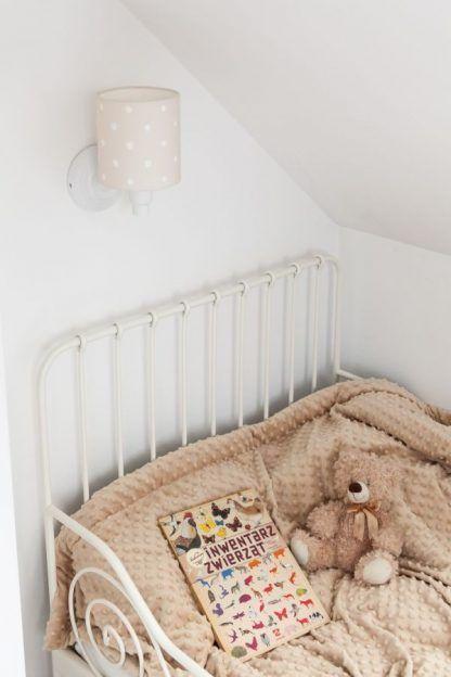 kinkiet w groszki do pokoju chłopca lub dziewczynki nad łóżko
