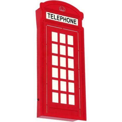 Kinkiet w kształcie czerwonej budki telefonicznej