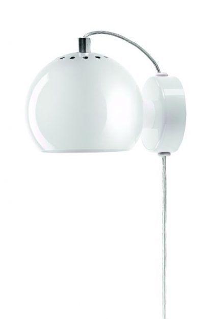 kinkiet w kształcie kuli - biała lampa ścienna
