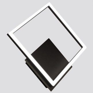 Kinkiet w kształcie rombu w czarnym kolorze salon