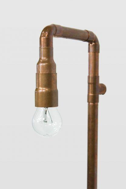 kinkiet z miedzi z żarówką ozdobną edisona - nowoczesny loft