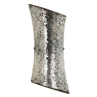 Kinkiet z mozaiką w srebrnym odcieniu do sypialni