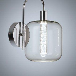 Kinkiet ze szklanym kloszem i akrylową ozdobą bąbelki